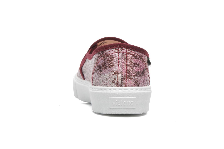 Sneaker Victoria Slip-on Reptil Metalizado rosa ansicht von rechts