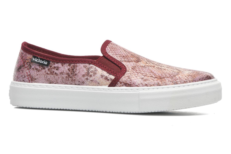 Sneaker Victoria Slip-on Reptil Metalizado rosa ansicht von hinten