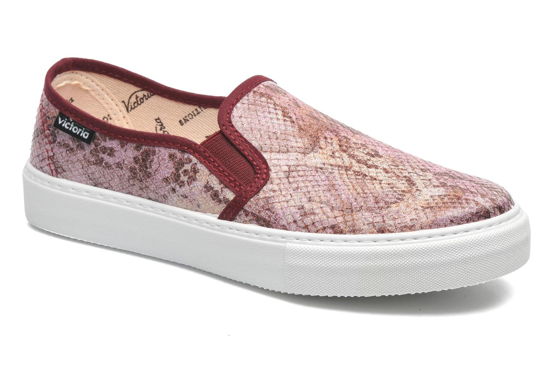 Sneaker Victoria Slip-on Reptil Metalizado rosa detaillierte ansicht/modell