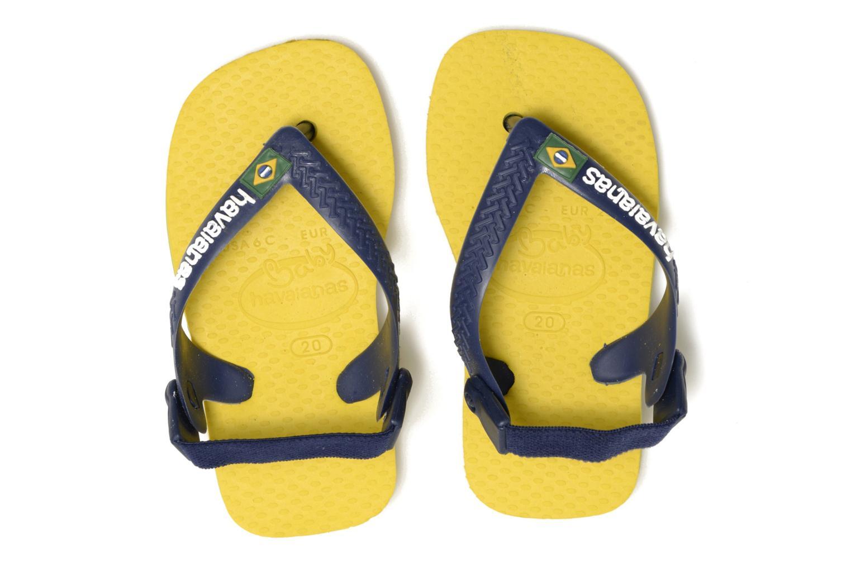 Flip flops Havaianas Baby Brazil Logo Yellow 3/4 view