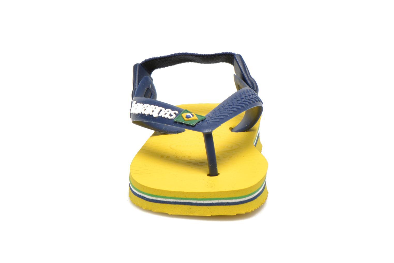Flip flops Havaianas Baby Brazil Logo Yellow model view