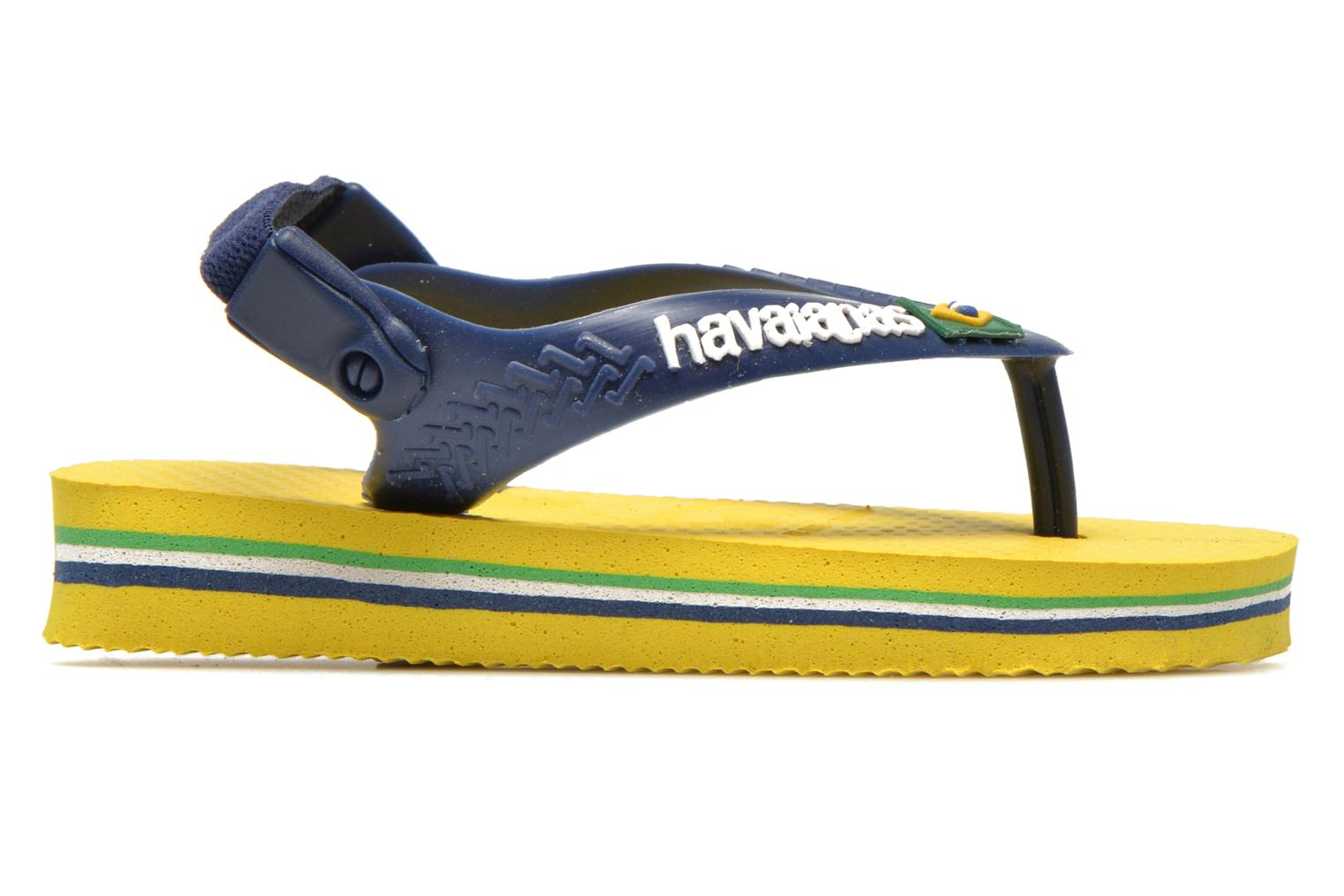 Flip flops Havaianas Baby Brazil Logo Yellow back view