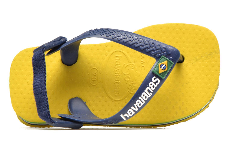 Tongs Havaianas Baby Brazil Logo Jaune vue gauche