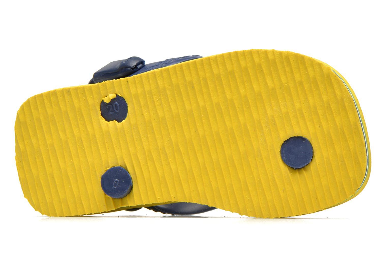 Chanclas Havaianas Baby Brazil Logo Amarillo vista de arriba