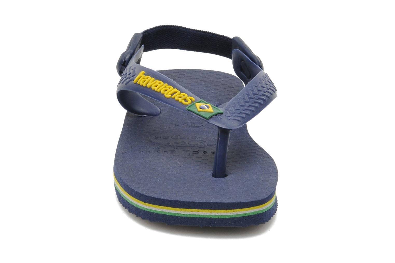 Infradito Havaianas Baby Brazil Logo Azzurro modello indossato