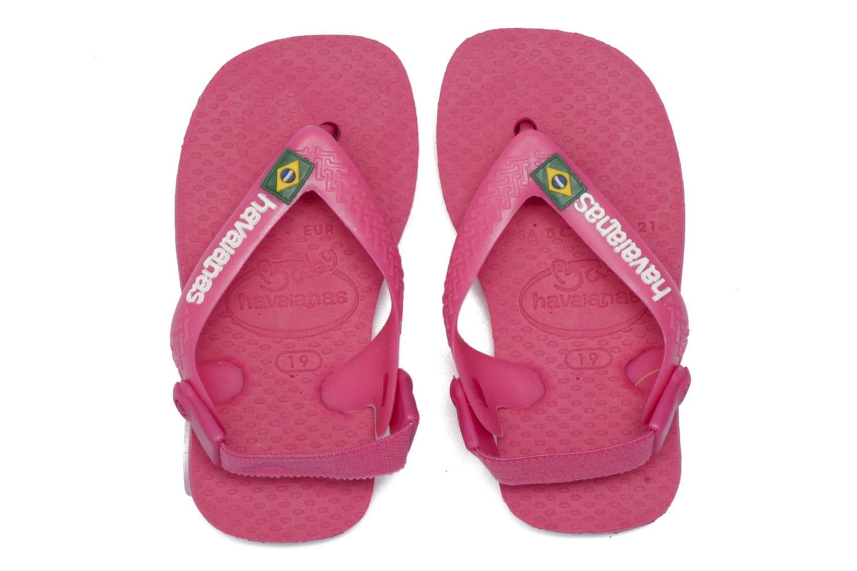 Zehensandalen Havaianas Baby Brazil Logo rosa 3 von 4 ansichten