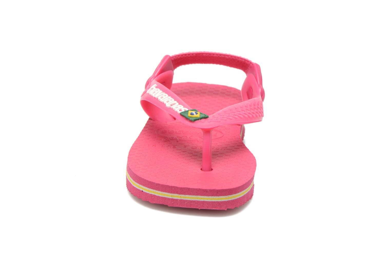Slippers Havaianas Baby Brazil Logo Roze model