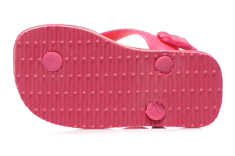 Chanclas Havaianas Baby Brazil Logo Rosa vista de arriba