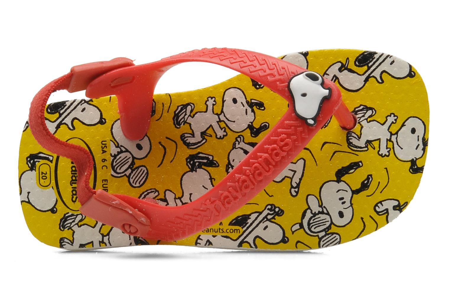 Tongs Havaianas Baby Snoopy Multicolore vue gauche