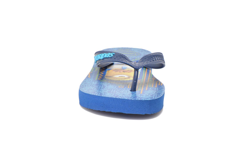 Zehensandalen Havaianas Kids Minions blau schuhe getragen