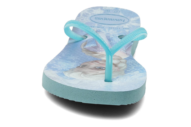 Tongs Havaianas Kids Slim Frozen Bleu vue portées chaussures