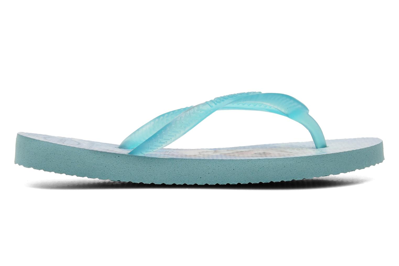 Zehensandalen Havaianas Kids Slim Frozen blau ansicht von hinten