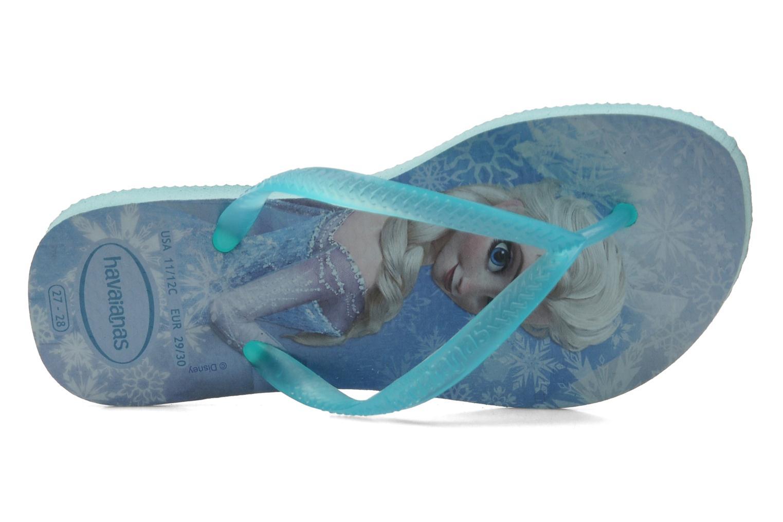 Zehensandalen Havaianas Kids Slim Frozen blau ansicht von links