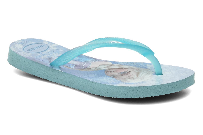 Tongs Havaianas Kids Slim Frozen Bleu vue détail/paire