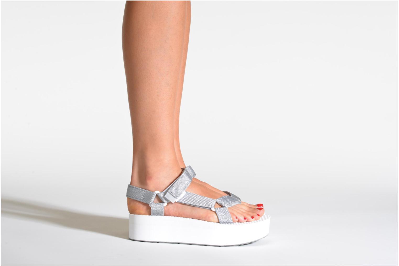 Sandali e scarpe aperte Teva Flatform Universal Argento immagine dal basso