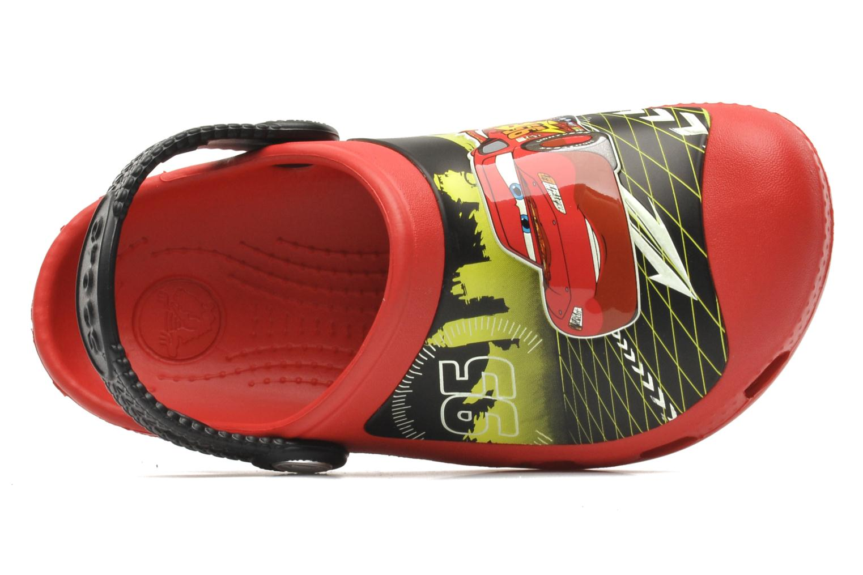 Sandalen Crocs CCLightningMcQueenClog rot ansicht von links
