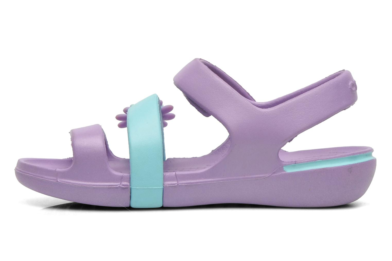 Sandales et nu-pieds Crocs KeeleyPetalCharmSandalPS Multicolore vue face