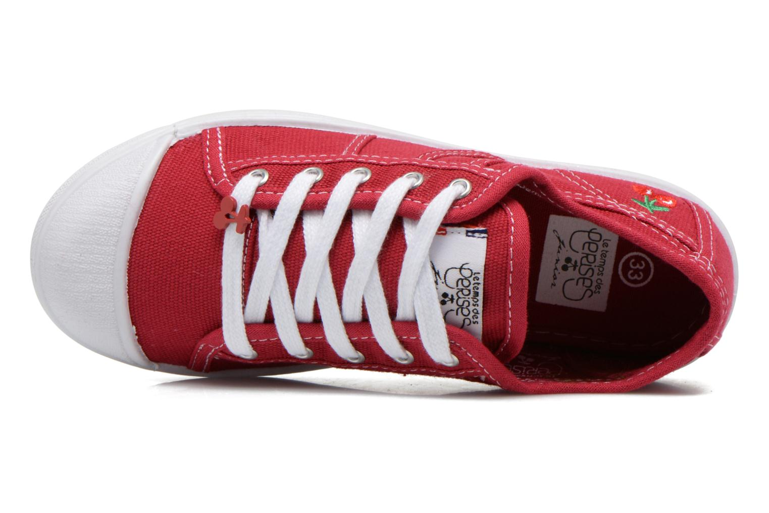 Trainers Le temps des cerises Lc Basic 02 Red view from the left