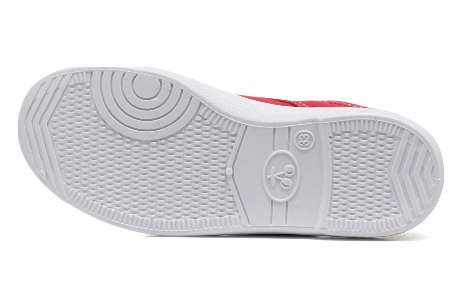 Trainers Le temps des cerises Lc Basic 02 Red view from above