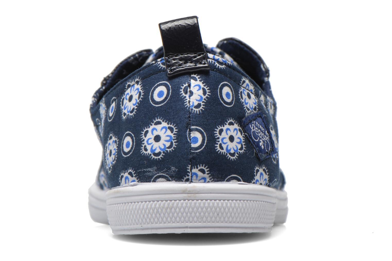 Baskets Le temps des cerises Lc Basic 02 Bleu vue droite