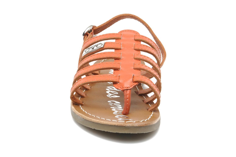 Sandales et nu-pieds Le temps des cerises LC NEW ILONA Orange vue portées chaussures