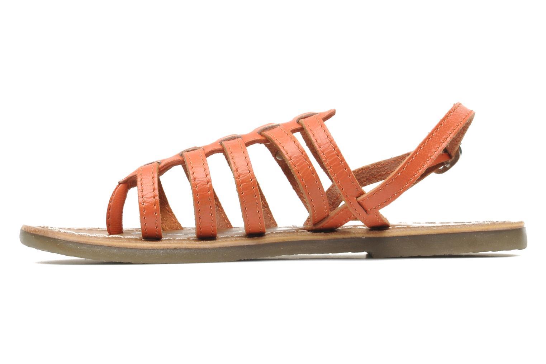 Sandales et nu-pieds Le temps des cerises LC NEW ILONA Orange vue face