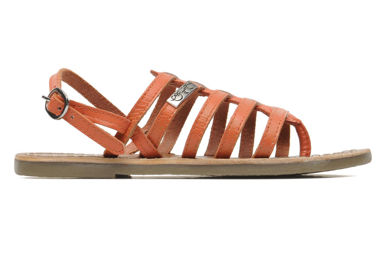 Sandales et nu-pieds Le temps des cerises LC NEW ILONA Orange vue derrière