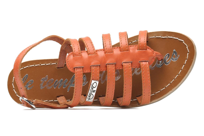 Sandales et nu-pieds Le temps des cerises LC NEW ILONA Orange vue gauche