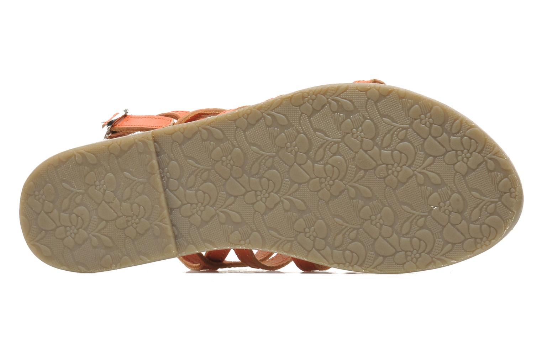 Sandales et nu-pieds Le temps des cerises LC NEW ILONA Orange vue haut