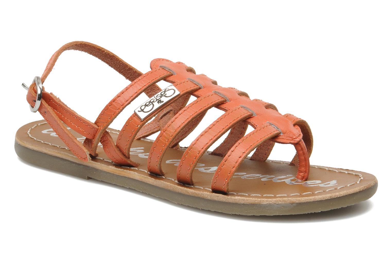 Sandales et nu-pieds Le temps des cerises LC NEW ILONA Orange vue détail/paire
