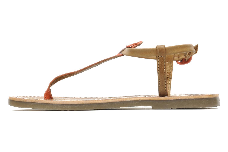 Sandales et nu-pieds Le temps des cerises LC CHLOE Beige vue face