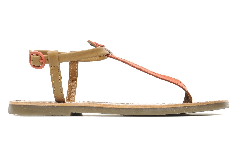 Sandales et nu-pieds Le temps des cerises LC CHLOE Beige vue derrière