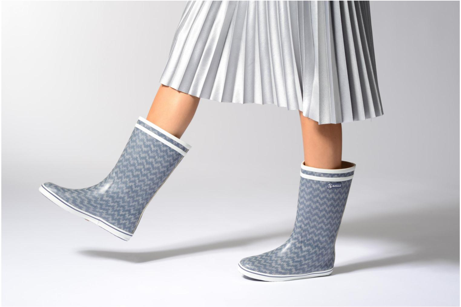 Ankle boots Aigle Malouine Print Blue view from underneath / model view