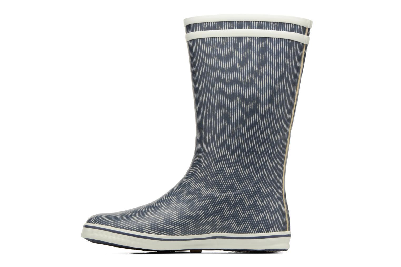 Bottines et boots Aigle Malouine Print Bleu vue face