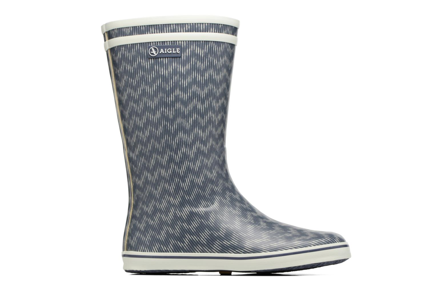 Ankle boots Aigle Malouine Print Blue back view