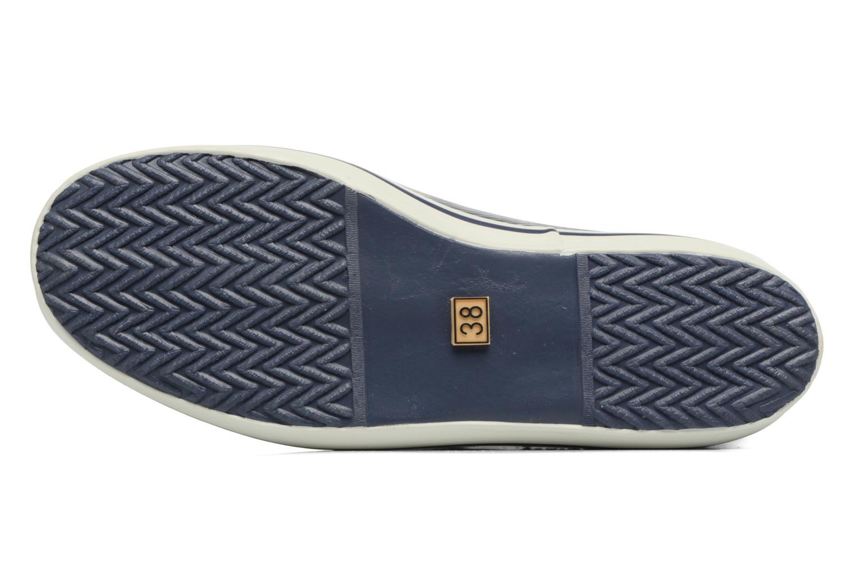 Bottines et boots Aigle Malouine Print Bleu vue haut