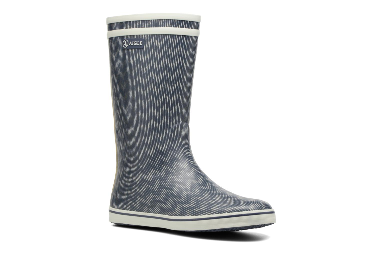 Bottines et boots Aigle Malouine Print Bleu vue détail/paire