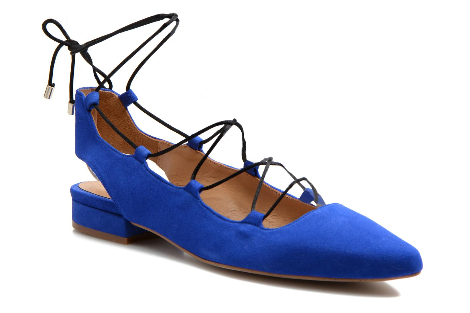 Ballet pumps Made by SARENZA Seven Tease #3 Blue view from the right