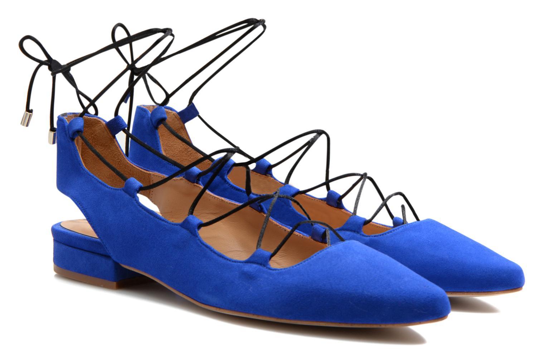 Ballet pumps Made by SARENZA Seven Tease #3 Blue back view