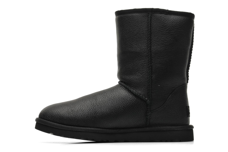 Bottines et boots UGG Classic Short Leather M Noir vue face