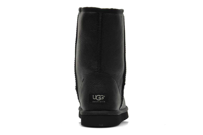 Bottines et boots UGG Classic Short Leather M Noir vue droite