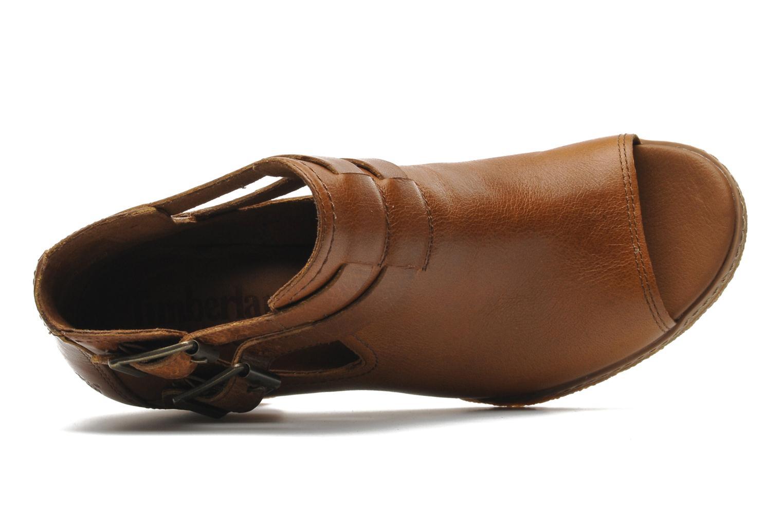 Bottines et boots Timberland Earthkeepers Glancy Peep Toe Marron vue gauche