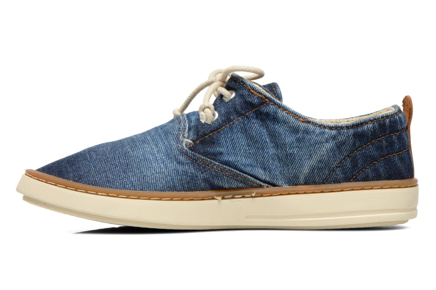 Sneakers Timberland Hookset Handcrafted Canvas Ox Blauw voorkant