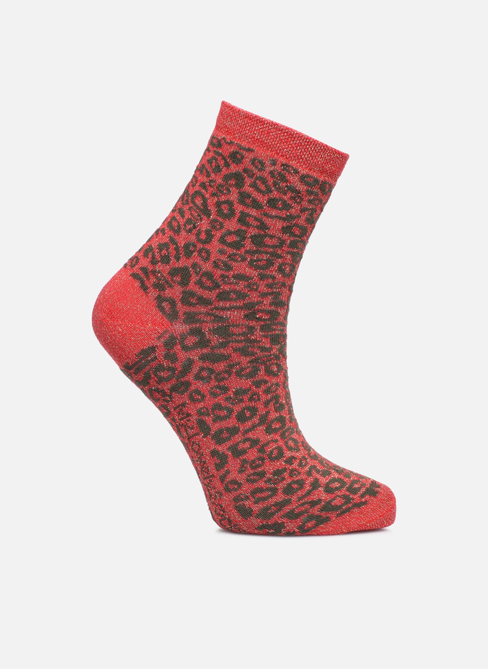 Chaussettes et collants My Lovely Socks rose Rouge vue détail/paire