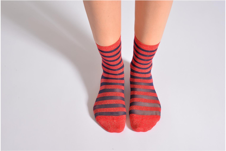 Chaussettes et collants My Lovely Socks Chaussettes Mixte Faustine Rouge vue haut