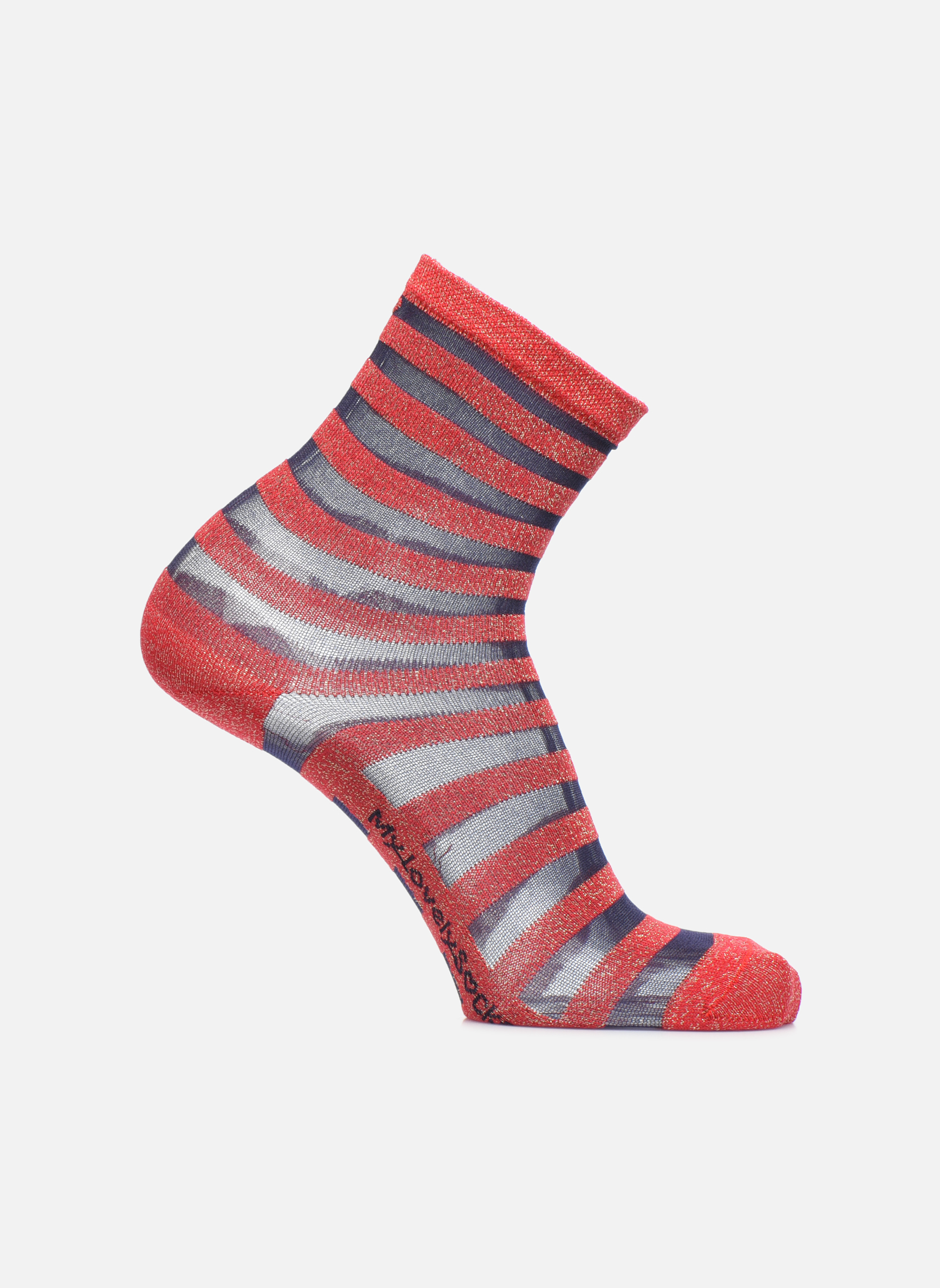 Chaussettes et collants My Lovely Socks Chaussettes Mixte Faustine Rouge vue détail/paire