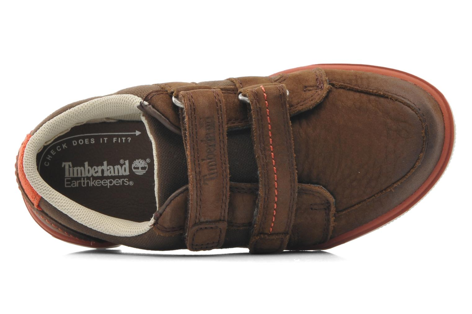 Velcro shoes Timberland SLMCPSL EKF/LH LOXBR Brown view from the left