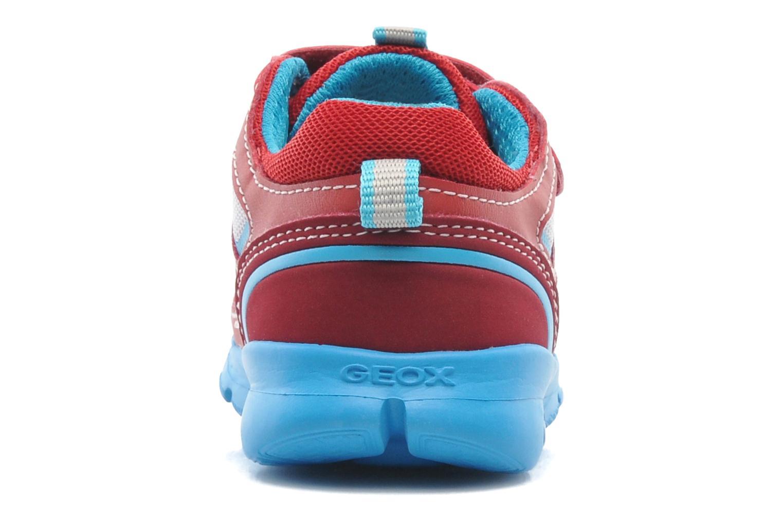 Sneaker Geox B Runner Boy A rot ansicht von rechts