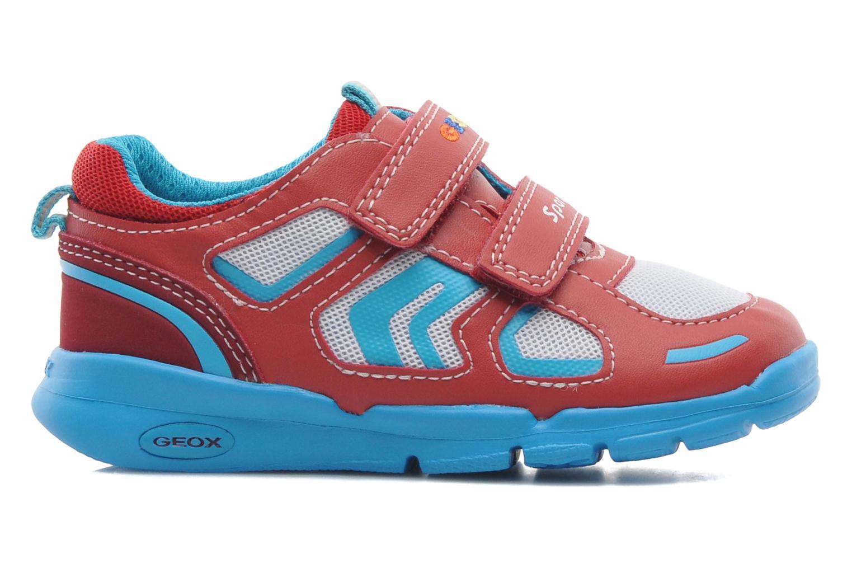 Sneaker Geox B Runner Boy A rot ansicht von hinten