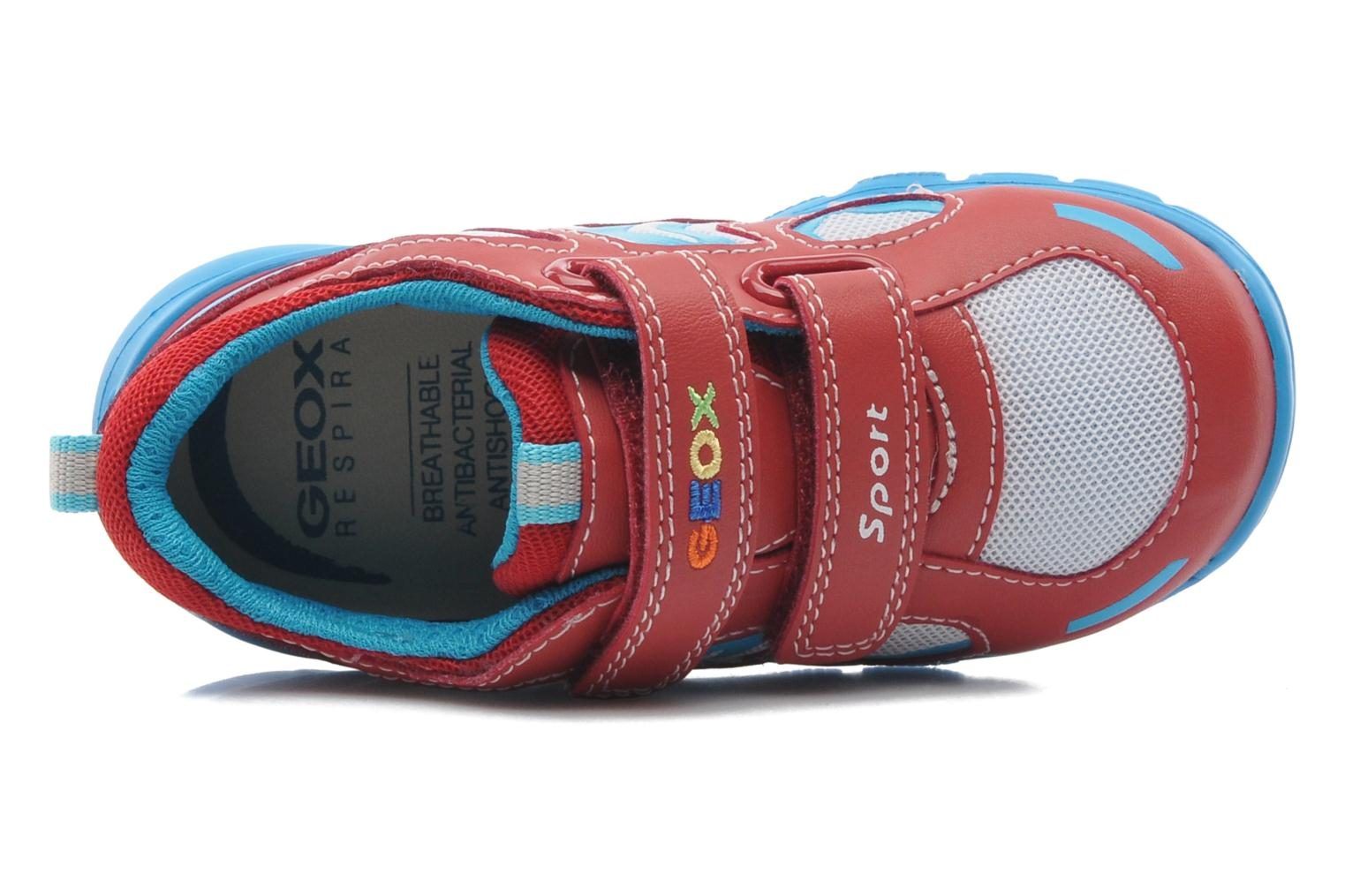 Baskets Geox B Runner Boy A Rouge vue gauche